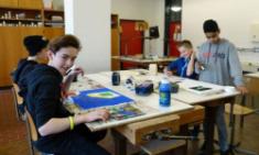 Kunst-AG bereitet Ausstellung vor