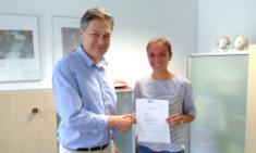 Klara Koppe erfolgreich mit Facharbeit!