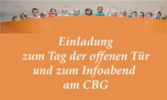 Einladung zu Infoabend (13.01.) und Tag der offenen Tür (14.01.)